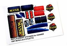 MASK stickers for KENNER M.A.S.K STILETTO Stickers Personalized with Extra's