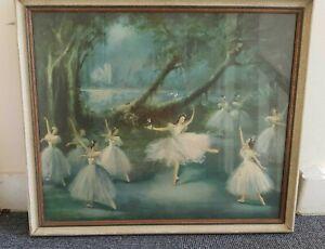 Large Carlotta Edwards Framed Print Margot Fonteyn In Giselle Ballet Ballerina