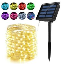 Solar Power 10/20M LED String Rope Fairy Lights Xmas Garden Party Outdoor Lamp