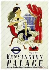 Visit Kensington palace : Old Travel Poster reproduction