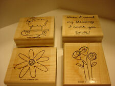 Stampin' Up EVERYDAY CELEBRATIONS Wood Mounted Rubber Stamps 2005 Complete