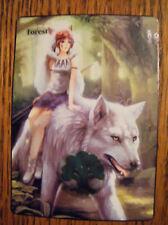 MTG altered art  Mononoke Wolves Forest