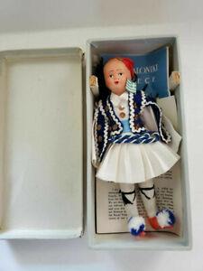 1957 Greece World-Wide Doll Club Antique Grecian 50s Vintage In Box Paperwork
