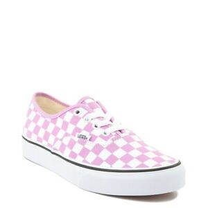 Vans Checkerboard Authentic Womens 9.5 M 8 Sneakers Orchid True White Lace Up