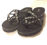 Teva Mandalyn Wedge Fabric Flip Flop/Thong Size 11 SN 4242