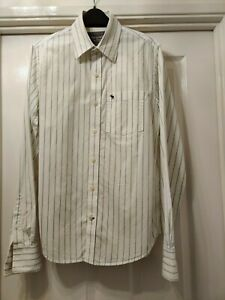"MENS ""ABERCROMBIE & FITCH"" - 'MUSCLE FIT' – LONG SLEEVE STRIPED SHIRT - SIZE S."