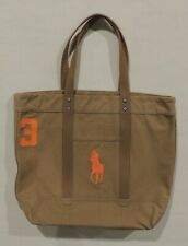 NWT Polo Ralph Lauren Big Pony Beach Book Diaper Handbag Bag Canvas/Leather Tote