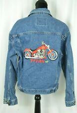 Titan Motorcycle Of America Women's Denim Jacket Sz Small Cotton Embroidery Rare