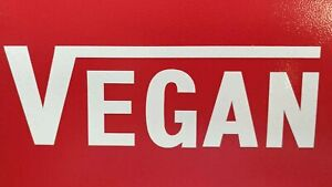 Vegan (White) Vinyl Bumper Sticker - Unique Gift Idea