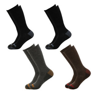 4 Pairs Timberland Boys Crew Socks Kids Boot Winter Black Brown Dress Outdoors