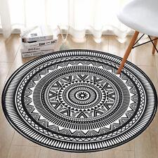 60/80/100/120cm Round Floor Mat Non-slip Carpet Modern Living Room Bedroom Rug