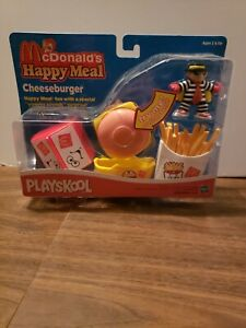McDonalds Hasbro Yummy Sounds Cheeseburger Happy Meal Set New in Sealed Box