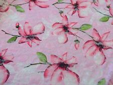 Pink Floral Stretch Lace Dress Fabric  #10PK79B