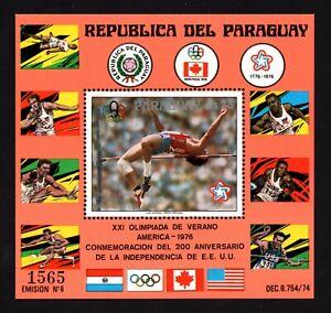 Olympic Paraguay 1976 block of stamp Mi#bl.288 MNH CV=30€