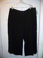 NWT H&M Size 20 Black Capri Career Pants Flare Leg