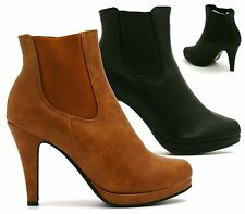 Unbranded Stiletto Synthetic Leather Pull On Boots for Women