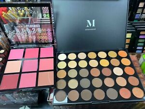 MORPHE 350 NATURE GLOW 35 COLOR ARTISTRY SHADOW PALLETE & FREE BLUSHER PALETTE