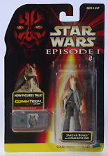 MOC STAR WARS Jar Jar Binks Gungan Battle Episode 1 CommTech Chip Figure MOSC