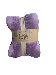 "Berkshire Life EcoSoft Blanket, Queen: 98"" x 92"" (249 cm x 234 cm) - Purple/Rose"