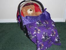 NIGHTMARE BEFORE CHRISTMAS KICK LESS Handmade baby blanket for car seat/stroller