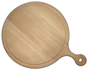 Pizzateller aus Holz, Ø 29 cm, Pizzabrett, Schneidbrett für Pizza aus Buchenholz