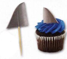 50 Ocean Surf SHARK FIN cupcake food PICKS Beach Party Novelty Supply Decoration