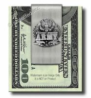 ARMY STAINLESS STEEL TRIBUTE MONEY CLIP - ARMED FORCES MILITARY USA - FREE SHIP'
