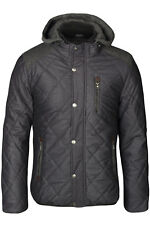 GEF�œTTERT WINTER JACKE PARKA STEPP WARM KAPUZE FELL HERREN