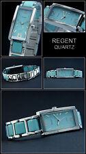 Elegante & DEPORTIVO MUJER Regent Reloj Cerámica LOOCK ACERO inox. en azul NUEVO