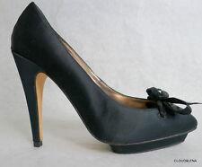 BCBGMAXAZRIA Satin upper Leather Sole  high heel platform pumps 6.5 TATIANA
