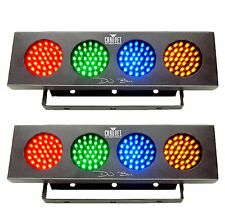 Chauvet DJ Bank RGBA LED Sound Active Color Party Wash Effect Light (2 Pack)