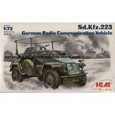 SD.KFZ.223 GERMAN RADIO COMMUNICATION VEHICLE 1/72  ICM 72421