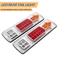 2ps 19 LED Ute Rear Trailer Tail Lights Caravan Truck Car Indicator Lamp  12V 00