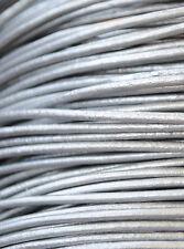 ¡¡¡OFERTA 2x1!!! 5 metros de cordón de cuero de 2mm, color Plata