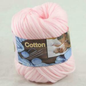1Ball  50g Special Thick Worsted 100% Cotton Hand Knitting Yarn Baby Pink 422-03