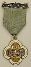 Druids AOD 1924 Benevolent Festival Jewel HM Silver