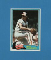 1981 Topps Mike Flanagan Baseball Card #10 - Baltimore Orioles