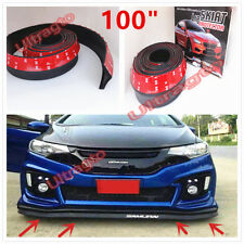 "100"" Universal FRONT/ REAR /SIDE BUMPER LIP SPLITTER BODY SPOILER VALENCE CHIN"