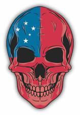 "Skull Flag Samoan Car Bumper Sticker 4"" x 5"""