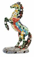 Mosaic Effect Rearing Horse Figurine Statue Sculpture Horses Lover Gift