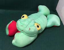 Moshi Green Frog Microbead Spandex Red Feet Squishy Plush Stuffed Animal