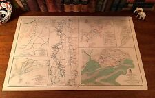 Original Antique Civil War CAMPAIGN MAP Siege of Spanish Fort MOBILE Alabama
