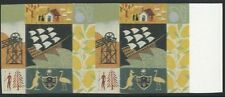 1999 Millennium Settlers. 43p imperforate pair, gold, brown, phos omitted error.
