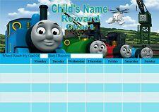 Personalised Thomas the tank Reward chart, Potty training, Behaviour. Re-useable