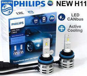 H11 LED PHILIPS Ultinon Essential Car Fog Light Bulbs 6500 K +200% 11362UE2X2