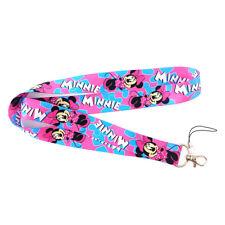 Cartoon Mickey Minnie Doland Neck Strap Lanyard Badge Holder Phone Card Keyring