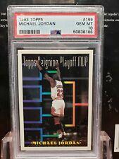 1993 Topps Basketball Michael Jordan #199 PSA 10 GEM MINT BIN STEAL 38186 MVP