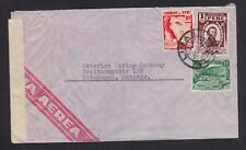 PERU 1941 WWII CENSORED AIRMAIL COVER LIMA TO KITCHENER ONTARIO CANADA
