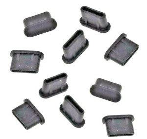 20pcs USB Type-C Anti-Dust Plug Stopper Black Rubber for Samsung Galaxy Note 20