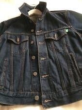 BENETTON Giubbino In Jeans Blu Scuro Vintage Anni 80 Taglia S